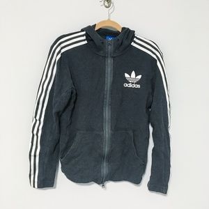ADDIDAS | tri-strip sleeved hoodie jacket
